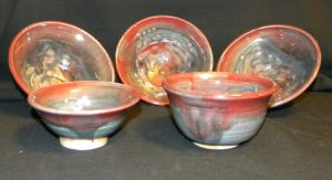 Black and Red bowls by RubaiSora