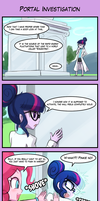 4koma Friday - Portal Investigation by luminaura