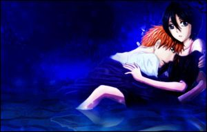 IchiRuki in the water by Seirenn