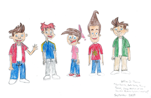 Tim, Josh, Timmy, Jimmy, and Jim by WillM3luvTrains