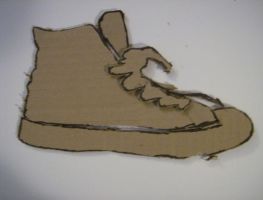 Cardboard Shoe by pandamel