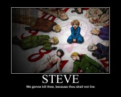 Steve Must Die by deathnotehyperness