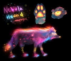 Nebula Hound Adoptable CLOSED by TheFireGypsy