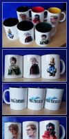 Final Fantasy mugs by shizonek