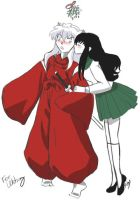 Inuyasha and Kagome Christmas by PheonixKarr