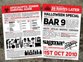 zombie rave flyer by south