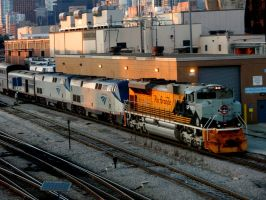 UP 1989 Amtrak 6 in Chicago by JamesT4