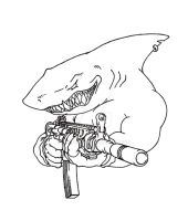Sharkie's gota gun by RtotheYO