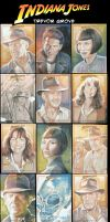 Indy 4 Sketchcards by TrevorGrove