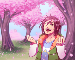 Rin and the Blossom Trees by SorceressDream