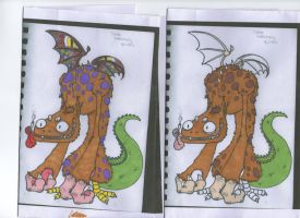 dragon demon colour testin by MooshuFezrit