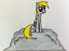 Derpy on a Cloud by Noxulous