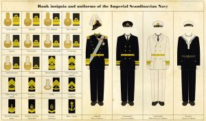 Naval rank insignia and uniforms by Regicollis