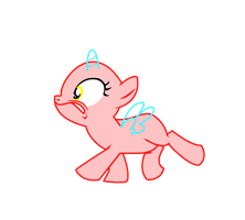 mlp filly 'RUN!!' Base by pinay4life001