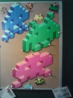 2.5D Perler Invaders by ARD95