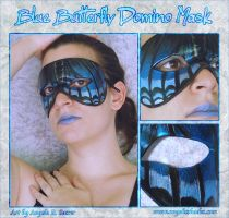 Blue Butterfly Domino Mask by Angelic-Artisan
