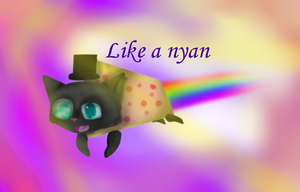 Sir nyan cat by Honoo-Koneco