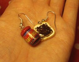 Polymer Clay Marmite Earrings by ChroniclesOfKate