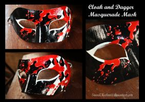 Cloak and Dagger Masquerade Mask by SineadMeehan
