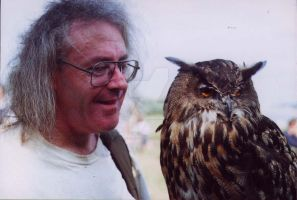 Me With European Eagle Owl by Calilasseia