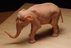 Asian Elephant Figure by Heliot8