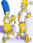 The Simpsons Family White Dressed by alan181818