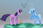 Twilight vs Trixie - testing brushes and soft by Kalimdor89