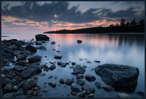 Evening at Lake Superior by IgorLaptev