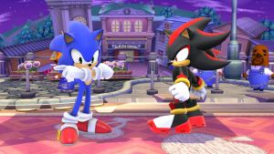 Shadow and Sonic by XalenTheWolf