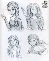 Disney Princess Drawings by Aileen-Rose