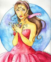 Watercolor Pencil Girl by Audriana