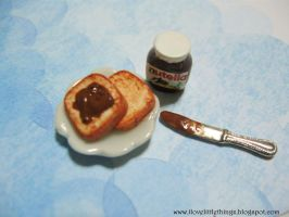 Miniature Nutella and Toast by ilovelittlethings