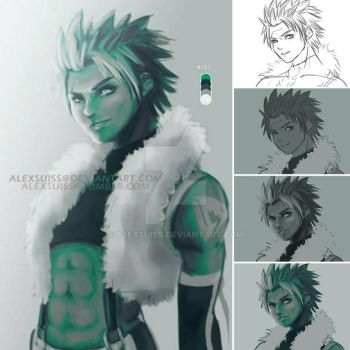 Sting Eucliffe coloring process by alexsuiss