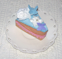 Cake with butterflies by daiin