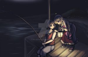 night fishing by DejiNyucu