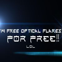 14 free optical flares....FOR FREE!!! lol by WilliamBate