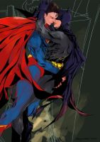 Superman with Batman by Jumpsub