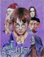 Harry Potter poster Ballpoint Pen by Angeliqueperrin