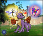 Spyro and the Butterfly by Tatsudoshi999