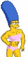 Marge Simpson As A FBB by GWHH