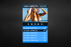 Simple player freebie psd by JakubSpitzer
