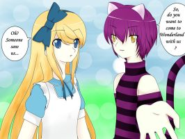 Alice and Cheshire Cat by mysticangel05
