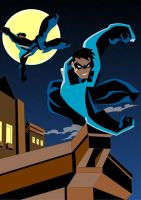 Nightwing Roof Top by Apollorising
