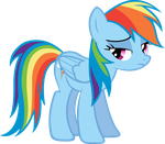 An upset Rainbow Dash. by LilCinnamon