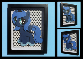 Shadowbox:  Filly Luna by The-Paper-Pony