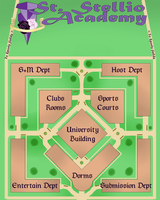 St. Stellio Academy Campus Map by chaoticpeace1