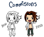 chibi commisions by Dartlein
