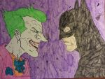 Batman and Joker by Beatlesluver56