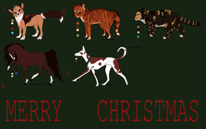 open christmas adoptables EDIT by CaledonCat