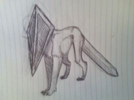 Pyramid Head Dog by muffinonie
